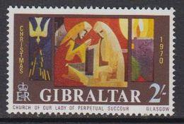 Gibraltar 1970 Christmas 1v ** Mnh (41507H) - Gibraltar