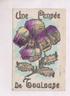 CPA    AVEC PAILLETTES ARGENTEES UNE PENSEE DE TOULOUSE En 1907! - Toulouse
