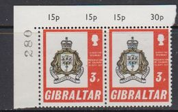 Gibraltar 1971 Presentation Of Colours 1v (pair, Corner)  ** Mnh (41506N) - Gibraltar