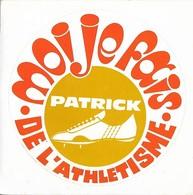 Autocollant - Patrick - Moi Je Fais De L'athlétisme - 10,5 X 10,5 Cm - - Stickers