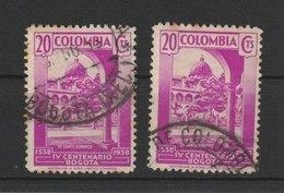 MiNr. 394  Kolumbien 1938, 27. Juli. 400 Jahre Stadt Bogotá. - Kolumbien