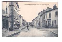 42 St Saint Symphorien De Lay Grande Rue Cpa Carte Animée - Autres Communes