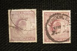 UK Grande Bretagne N°118  2 Teintes Différentes Oblitérés Cote 150€ - 1902-1951 (Kings)