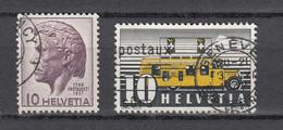 1945    N° 275 -276-277 à 279      OBLITERES  COTE 6.00  FRS.  VENDU à 12%       CATALOGUE ZUMSTEIN - Suisse