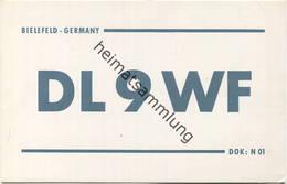 QSL - Funkkarte - DL9WF - Bielefeld - 1958 - Amateurfunk