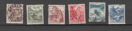 1948    N° 285 à 290      OBLITERES  COTE 20.00  FRS.  VENDU à 12%       CATALOGUE ZUMSTEIN - Suisse