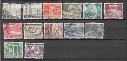 1949    N° 297 à 308      OBLITERES  COTE 9.50  FRS.  VENDU à 12%       CATALOGUE ZUMSTEIN - Suisse