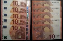 # 10 EURO X 5 - UB12386812.. - U007C2 - Firma DRAGHI - DA COLLEZIONE NUOVE DA MAZZETTA - EURO
