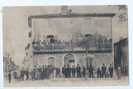 Cpa - Dpt  - Gard  - Milhaud    - - Cafe De L'union   -   - Animation -  (  Selection  )   Rare  1904 - Autres Communes