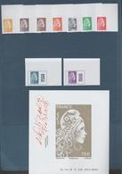 FRANCE / 2018 / Y&T N° ?2018/11/09 ** : Marianne L'engagée (Les 10 TP Non Dentelés Du Coffret Du Salon) - CdF Sup D - Unused Stamps