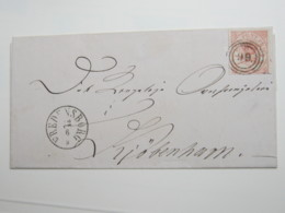 Brief  Mit Nummernstempel FREDERIKSBORG - Briefe U. Dokumente