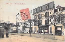 77 - Chelles - Arrivée De Paris Hôtel Café Restaurant Du Lion D' Or éditions Artistiques Delorme - Chelles