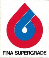 Autocollant - Automobiles - Huile - FINA SUPERGRADE - 12 X 10 Cm - - Stickers