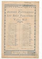 Partition Musicale Ancienne , Les Danses Populaires Et Les Bals Parisiens ,violon Seul, Estudiantina , Frais Fr 1.55 E - Scores & Partitions
