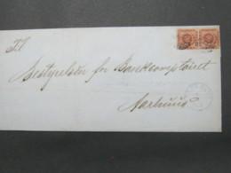 1864 , Brief  Mit Nummernstempel EBELTOFT , Pair - Briefe U. Dokumente