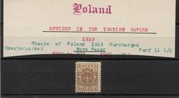 Poland Levant 1919,3f Scott # 2K1-2K7,VF MLH*OG (RN-5) SCV$385+ !! - Levant (Turquie)