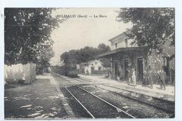 Cpa - Dpt  - Gard  - Milhaud    - - La Gare    -   - Animation -  (  Selection  )   Rare  1928 - Autres Communes