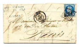 France N°29 Sur Lettre De Colmar - Cachet D'entrée Au Dos BADE - Voir Description - (B1262) - Poststempel (Briefe)