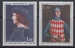 Monaco 1967 Paintings Lucien Grimaldi & Rainier I 2v ** Mnh (41507C) - Monaco