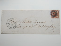 Brief  Mit Nummernstempel 1 - Briefe U. Dokumente