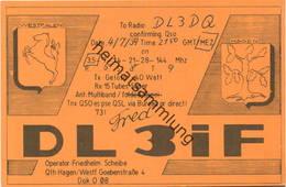 QSL - Funkkarte DL3IF - Hagen - 1959 - Amateurfunk