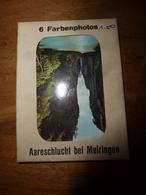 6 Farbenphotos - Aareschlucht Bei Meiringen -  Bazar-Restaurant  H. Moor-Sidler - Alte Papiere