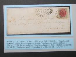1872 , Brief  Mit  Stempel Aus KVISTGAARD - Briefe U. Dokumente