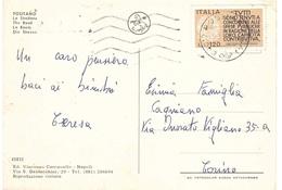 £120 CAPACITA' CONTRIBUTIVA SU CARTOLINA POSITANO LO STRADONE - 6. 1946-.. Repubblica