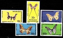 Serie De Centroafricana Nº Yvert A-69/73 *  MARIPOSAS (BUTTERFLIES) - República Centroafricana
