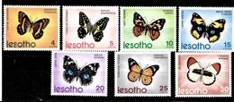 Serie De Lesotho Nº Yvert 242/48 *  MARIPOSAS (BUTTERFLIES) - Lesotho (1966-...)