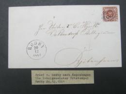 1861 , Brief  Mit  Stempel Aus RÖDBY - 1851-63 (Frederik VII)