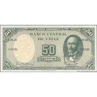 TWN - CHILE 126b1 - 5/50 Centesimos/Pesos 1960-61 Serie C29-26 - Signatures: Mackenna & Ibañez UNC - Cile