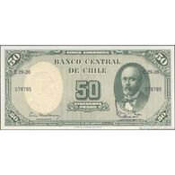 TWN - CHILE 126b1 - 5/50 Centesimos/Pesos 1960-61 Serie C29-26 - Signatures: Mackenna & Ibañez UNC - Chili