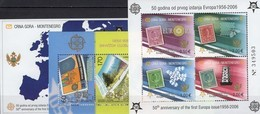 Topics CEPT Mazedonien Bl.13+CRNA GORA Blocks 2A+3 ** 88€ Hoja Blocs Art Ss Sheets Map Ms 50 Years EUROPA 1956-2006 - Europa-CEPT