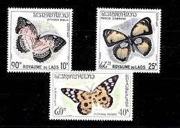 Serie De Laos Nº Yvert 106/08 *  MARIPOSAS (BUTTERFLIES) - Laos