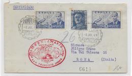 "ESPAGNE - 1949 - ENVELOPPE CORREO AERO ""3° CETENARIO SAN FRANCISCO JAVIER"" De PAMPLONA => ROMA (ITALIA) - Airmail"