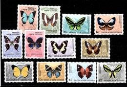 Serie De Papua Nº Yvert 83/93 *  MARIPOSAS (BUTTERFLIES) - Papúa Nueva Guinea