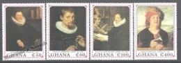 Ghana 1990 Yvert 1166-69, 150th Ann. Death Of Paintor Rubens, Art, Paintings - MNH - Ghana (1957-...)