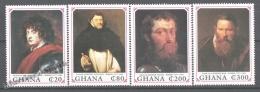 Ghana 1990 Yvert 1170-73, 150th Ann. Death Of Paintor Rubens, Art, Paintings (II) - MNH - Ghana (1957-...)