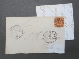 1860 , Brief  Mit  Stempel Aus Kopenhagen - 1851-63 (Frederik VII)