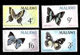 Serie De Malawi Nº Yvert 37/40 *  MARIPOSAS (BUTTERFLIES) - Malawi (1964-...)