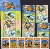 Akropolis Kirgistan 449/4+MAZEDONIEN 370/3 ZD,Block 13 ** 162€ Stamp On Stamps Blocs Ss Sheets M/s Bf 50 Years CEPT - Islam
