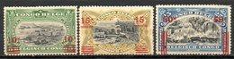 CONGO BELGE - (Colonie Belge) - 1921 - N° 86, 87 Et 90 Et Paire Du N° 97 - (T.P. De 1908-10 Surchargés) - Belgian Congo