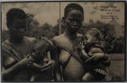 """Congo Belge - EP Vue 15C Vert Voyagé - Nº121 Uele """" Enfants Makere"""" - Belgian Congo - Other"""