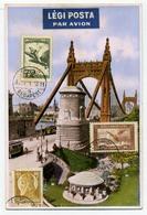 BUDAPEST 1931. Régi, Szép Levelezőlap, Ajánlott Légi Postával Franciaországba Küldve - Brieven En Documenten
