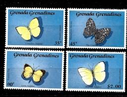 Serie De Grenada-Grenadinas Nº Yvert 1038/41 ** MARIPOSAS (BUTTERFLIES) - Grenade (1974-...)