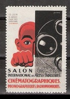 Vignetten Reklamemarken Frankreich France : Salon International Des Arts Et Industries Cinematographiques Versailles ** - Erinnofilia