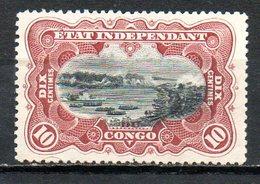 CONGO BELGE - (Etat Indépendant) - 1894-1900 - N° 17 - 10 C. Brun-rouge - (Chutes De Stanley) - Belgian Congo