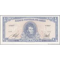 TWN - CHILE 134Aa3 - ½ Escudo 1964 Serie G 13 - Signatures: Inostroza & Barrios UNC - Chili