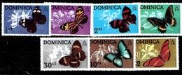 Serie De Dominica Nº Yvert 420/26 ** MARIPOSAS (BUTTERFLIES) - Dominica (1978-...)